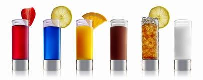 Комплект коктеиля спирта Стоковое Изображение