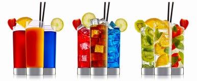 Комплект коктеиля спирта Стоковое Фото
