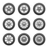 Комплект колес иллюстрация вектора