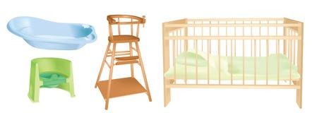 комплект комнаты s предметов интерьера детей Стоковое Изображение RF