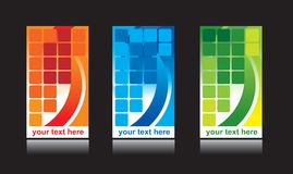 комплект конструкции визитной карточки иллюстрация штока