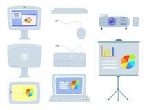Комплект конторских машин Бесплатная Иллюстрация