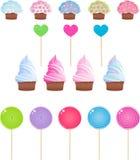 комплект конфеты Стоковые Изображения