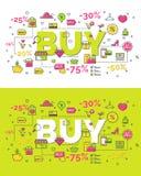 Комплект концепции покупки Стоковая Фотография
