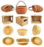Комплект корзины wicker Стоковые Фотографии RF