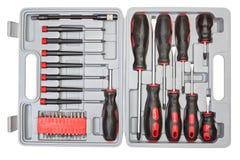 Комплект коробки различных инструментов. Стоковое Изображение RF