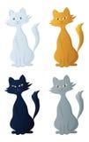 комплект кота artoon Стоковое Изображение