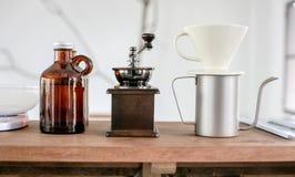 Комплект кофе потека руки Стоковая Фотография