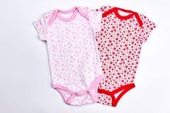 Комплект красивых bodysuits для ребёнка стоковая фотография rf
