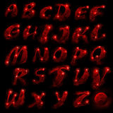 комплект красного цвета алфавита Стоковое фото RF
