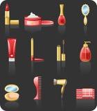 комплект красного цвета иконы красотки Стоковые Изображения