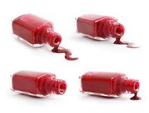 комплект красного цвета маникюра Стоковое Изображение RF