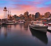 Комплект красного цвета музея Darl Harb кораблей Стоковое фото RF