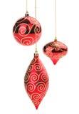комплект красного цвета рождества шарика Стоковая Фотография