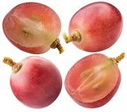 Комплект красной виноградины изолированный на белой предпосылке Стоковые Фото