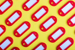 Комплект красных бирок для ключей Стоковое Фото