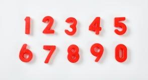 Комплект красных номеров Стоковые Изображения
