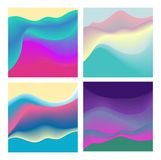 Комплект красочной геометрической предпосылки Жидкость формирует состав EPS10 стоковое фото rf