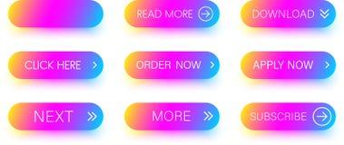 Комплект красочных значков изолированных на белизне Стоковая Фотография