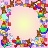 Комплект красочных игрушек младенца бесплатная иллюстрация