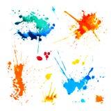 Комплект красочных помарок на белой предпосылке бесплатная иллюстрация