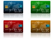 комплект кредита карточки иллюстрация штока