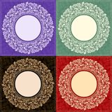 Комплект круглой рамки 4 иллюстрация вектора