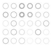 Комплект круглых декоративных границ Стоковые Изображения RF