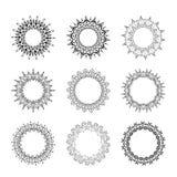 Комплект круглых декоративных рамок Стоковые Фото