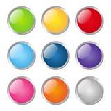 Комплект круглых кнопок бесплатная иллюстрация