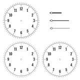 Комплект круглых циферблатов Дизайн для людей Шкала пустого дисплея  иллюстрация вектора