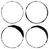 Комплект кругов хода щетки Стоковое фото RF