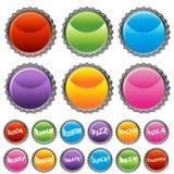 комплект крышки кнопки бутылки Стоковые Изображения