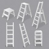 Комплект лестниц реалистический прозрачный бесплатная иллюстрация