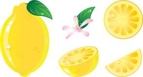 комплект лимона иконы плодоовощ Стоковое Изображение RF