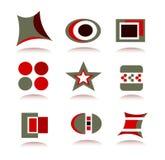 комплект логоса иконы элементов Бесплатная Иллюстрация