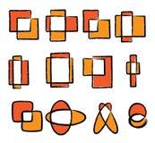 комплект логоса иконы Стоковое Изображение
