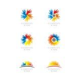 комплект логоса иконы Стоковые Изображения RF