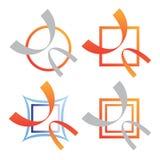 комплект логоса компании дела Стоковое фото RF