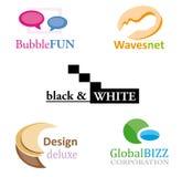 комплект логоса конструкции Стоковые Изображения