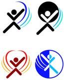 комплект логоса пригодности иллюстрация штока
