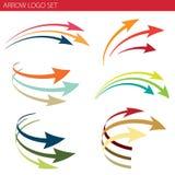 Комплект логоса стрелки иллюстрация вектора