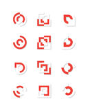 комплект логоса Стоковое Изображение