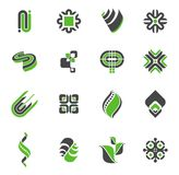 комплект логоса 2 собраний иллюстрация штока