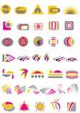 комплект логоса Иллюстрация вектора