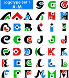 комплект логоса eps алфавита Стоковые Фото