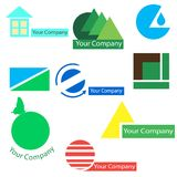 Комплект логотипов вектора для дела Стоковые Изображения RF