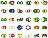 Комплект логотипов, значков и графических элементов Стоковые Фото