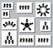 Комплект логотипов, значков стилизованной диаграммы человека Творческий логотип сыгранности вектор изображения иллюстрации элемен Стоковая Фотография RF