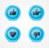 Комплект лоснистых икон интернета Стоковое Изображение